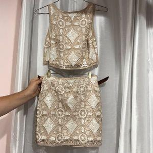 Express two piece set (crop top/ skirt)